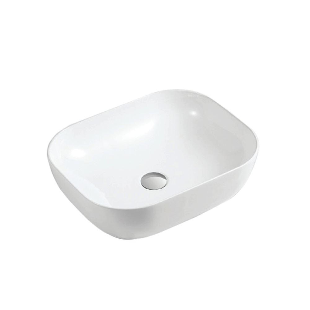 White Ceramic Rectangular Bathroom Sink (CL-1269-1)
