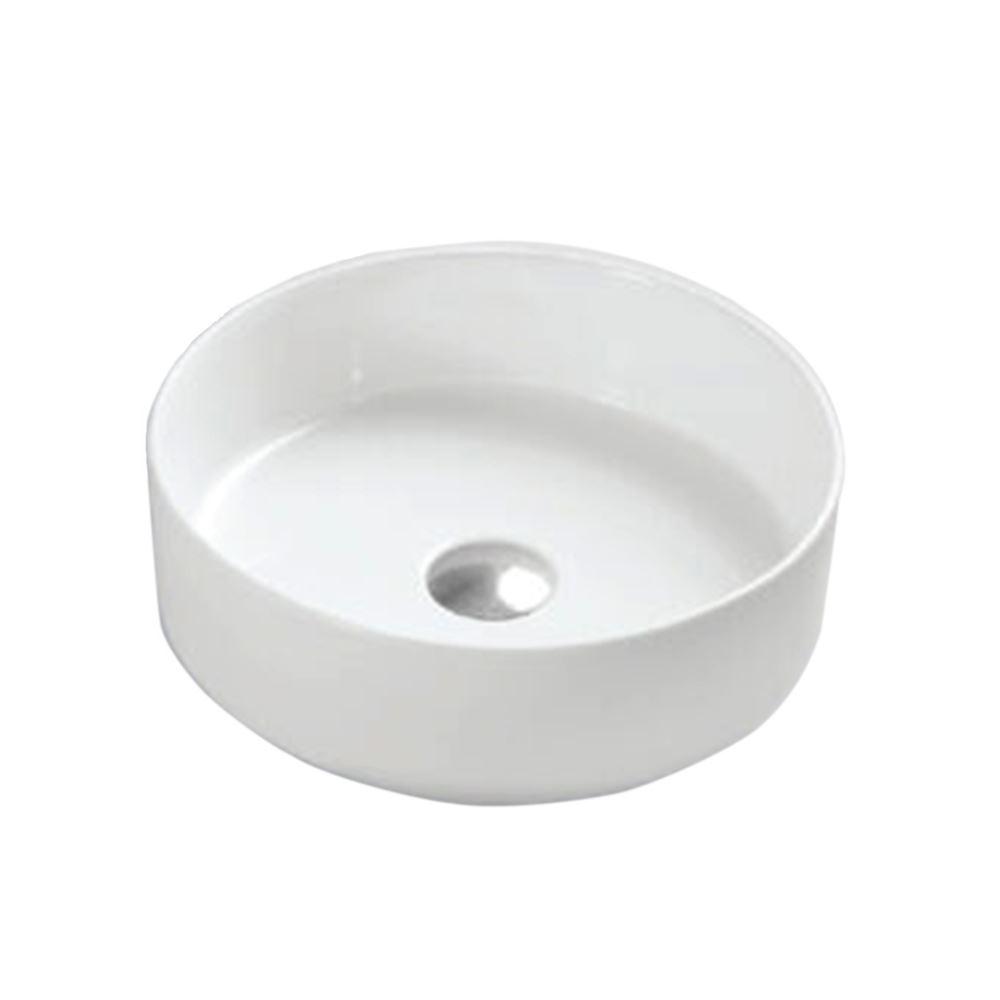 White Ceramic Circular Bathroom Sink (CL-1277)