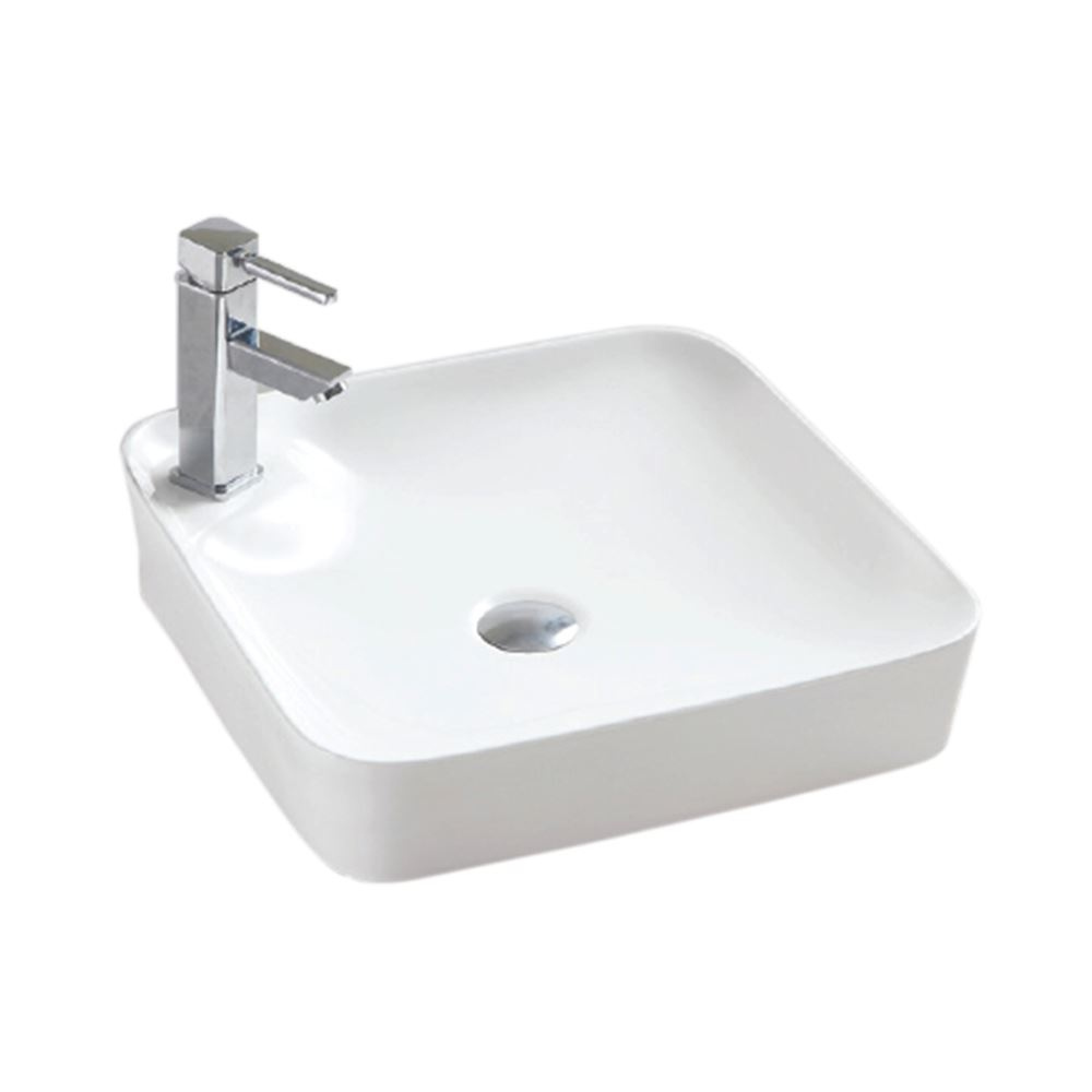 White Ceramic Square Bathroom Sink (CL-1263)