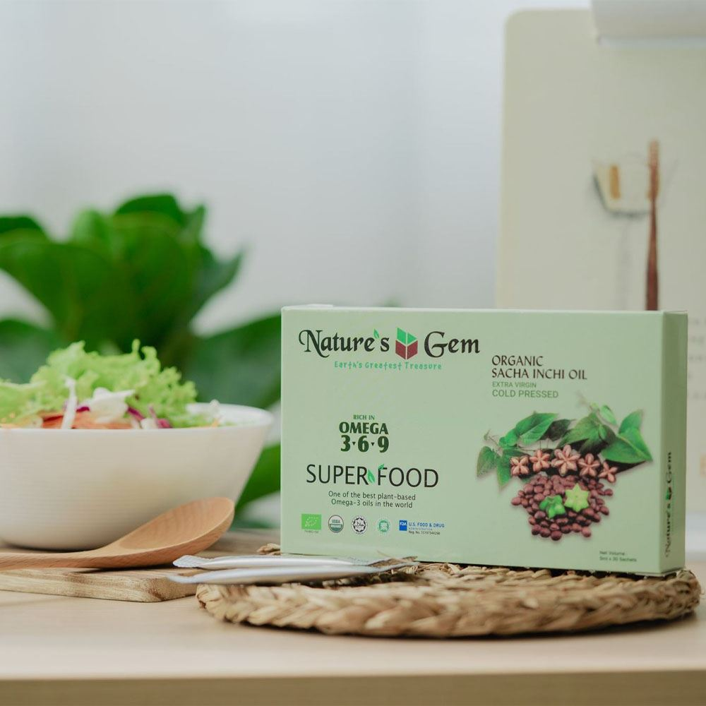 Nature's Gem Organic Sacha Inchi Oil (Cold Pressed)
