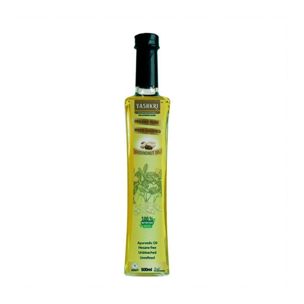 Virgin Groundnut Oil 500ml (Glass Bottle)