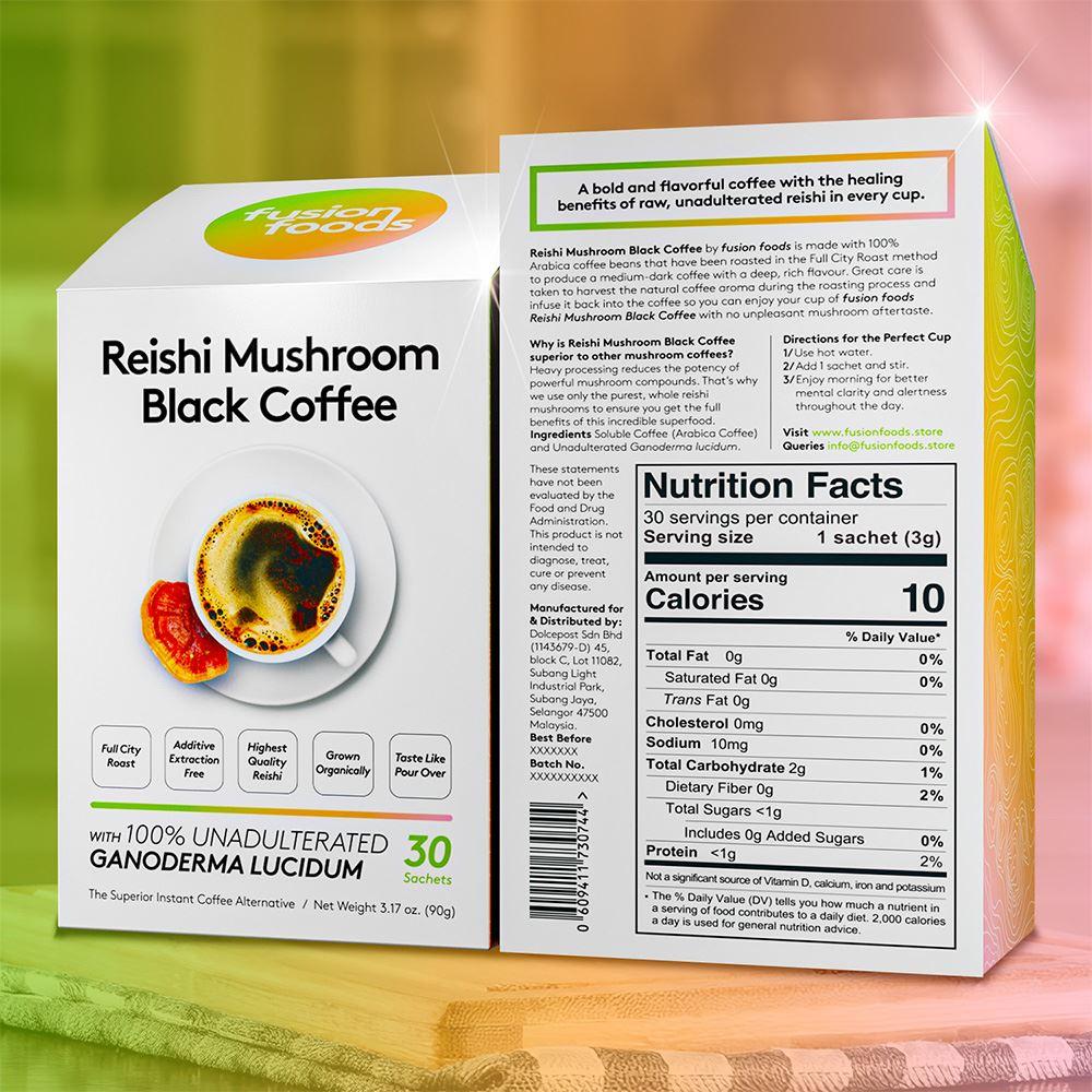 Reishi Mushroom Black Coffee