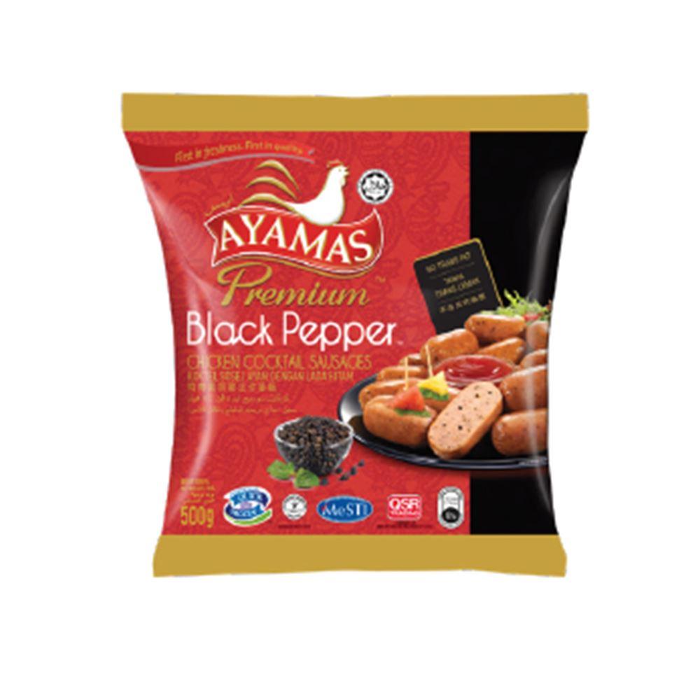 Premium Black Pepper Chicken Chicken Cocktail Sausages