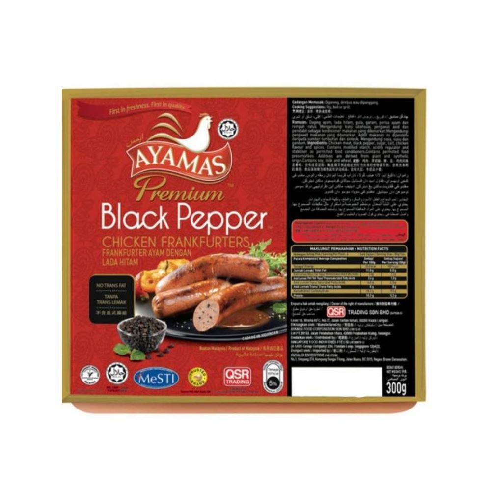 Premium Black Pepper Chicken Frankfurters