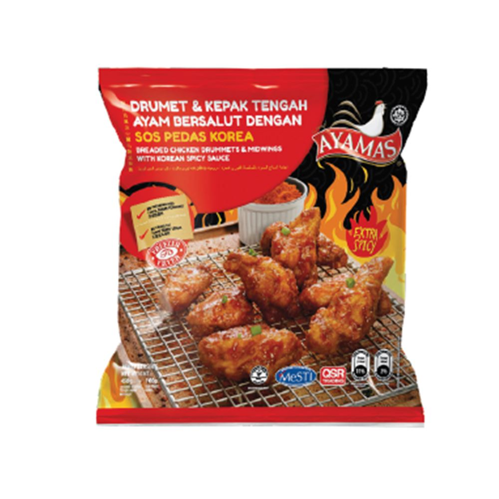 Breaded Chicken Drummets & Midwings with Korean Spicy Sauce