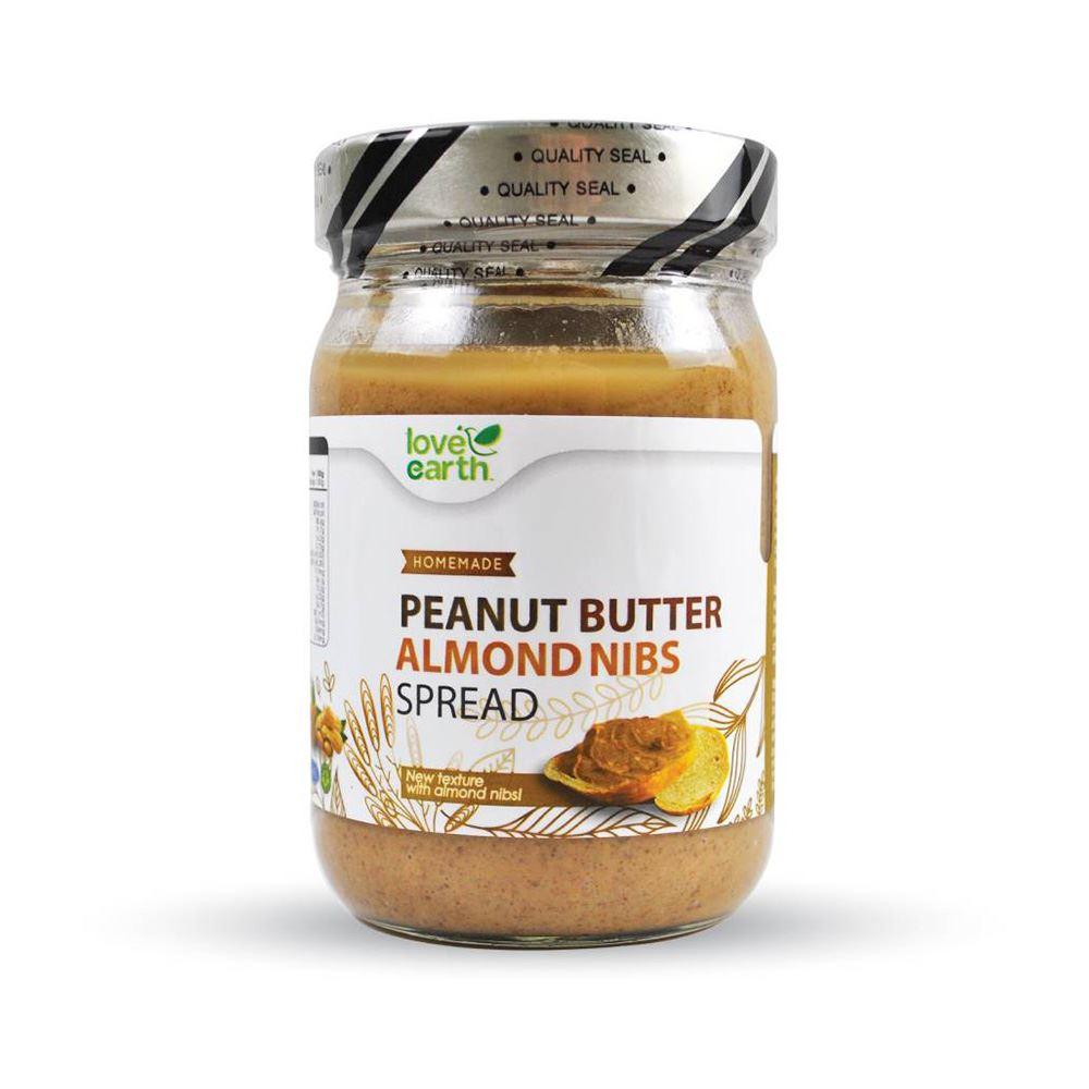 Love Earth Peanut Butter Almond Nibs Spread 350g