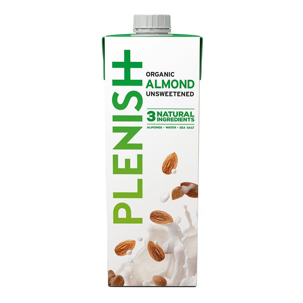 Plenish Organic Almond Unsweetened 1L