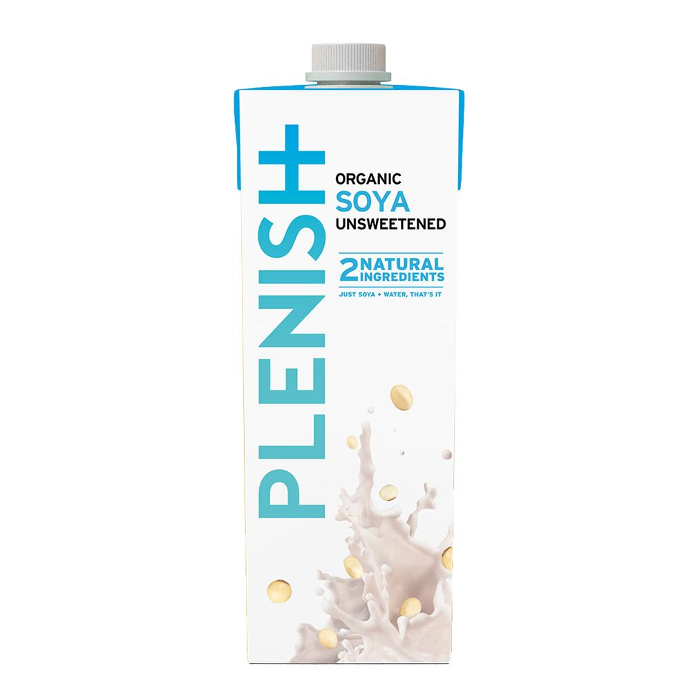 Plenish Organic Soya Unsweetened 1L