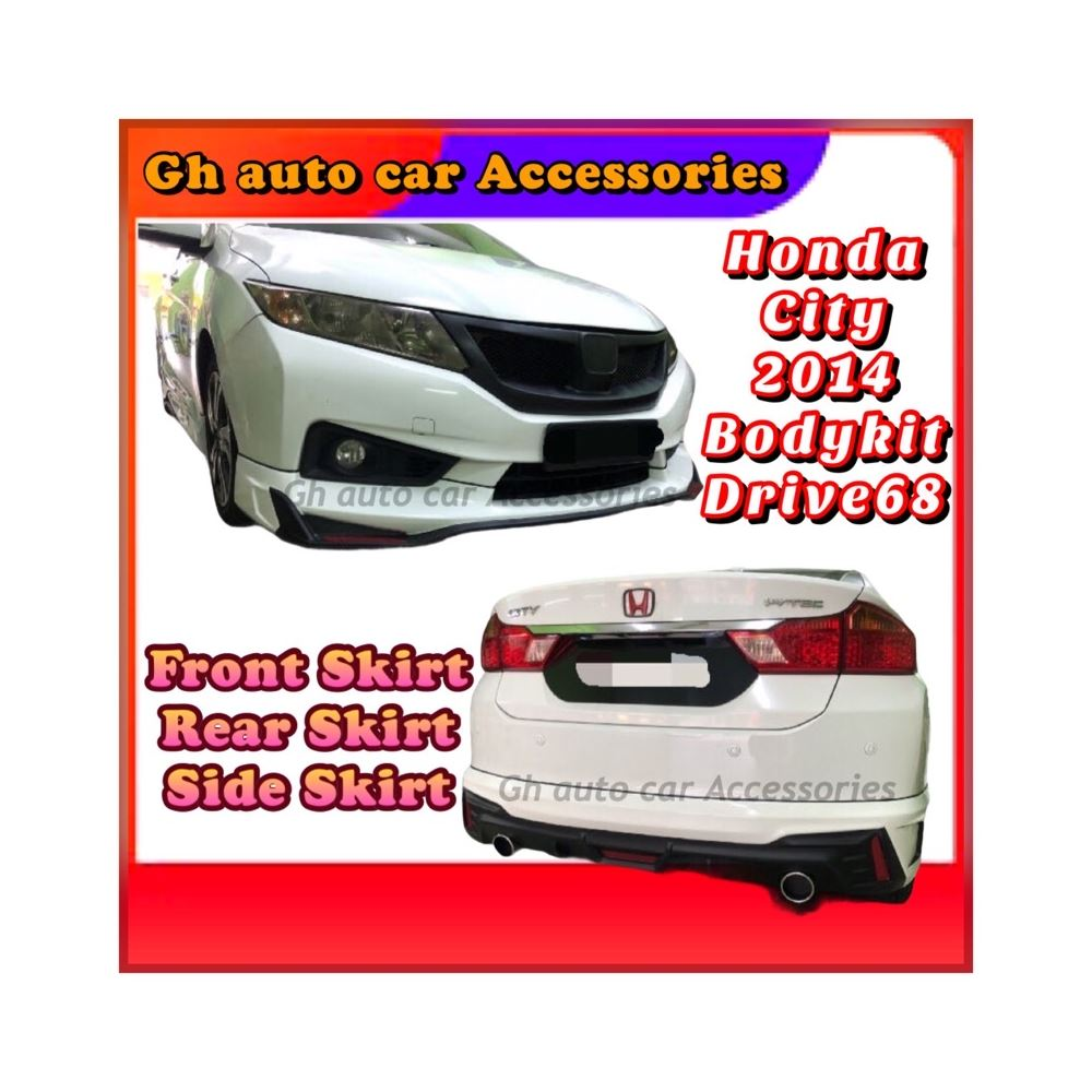 Bodykit For Honda City 2014 Drive68 With Colour