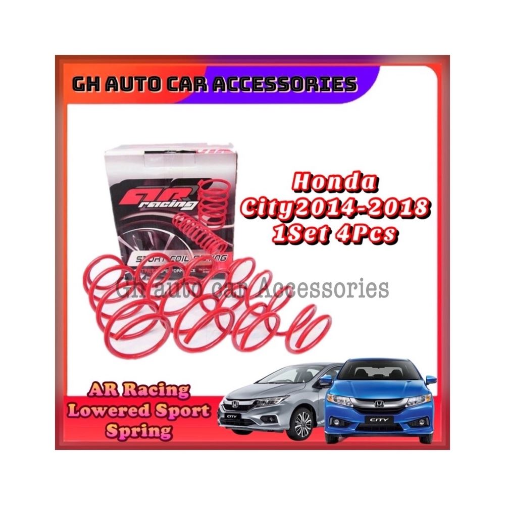 Honda Jazz City 2014-2017 AR Racing Sport Coil Spring Lowered Sport Spring 1Set 4Pcs