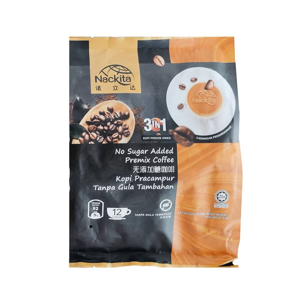 Nackita Premium Healthy Coffee with Stevia 3-in1