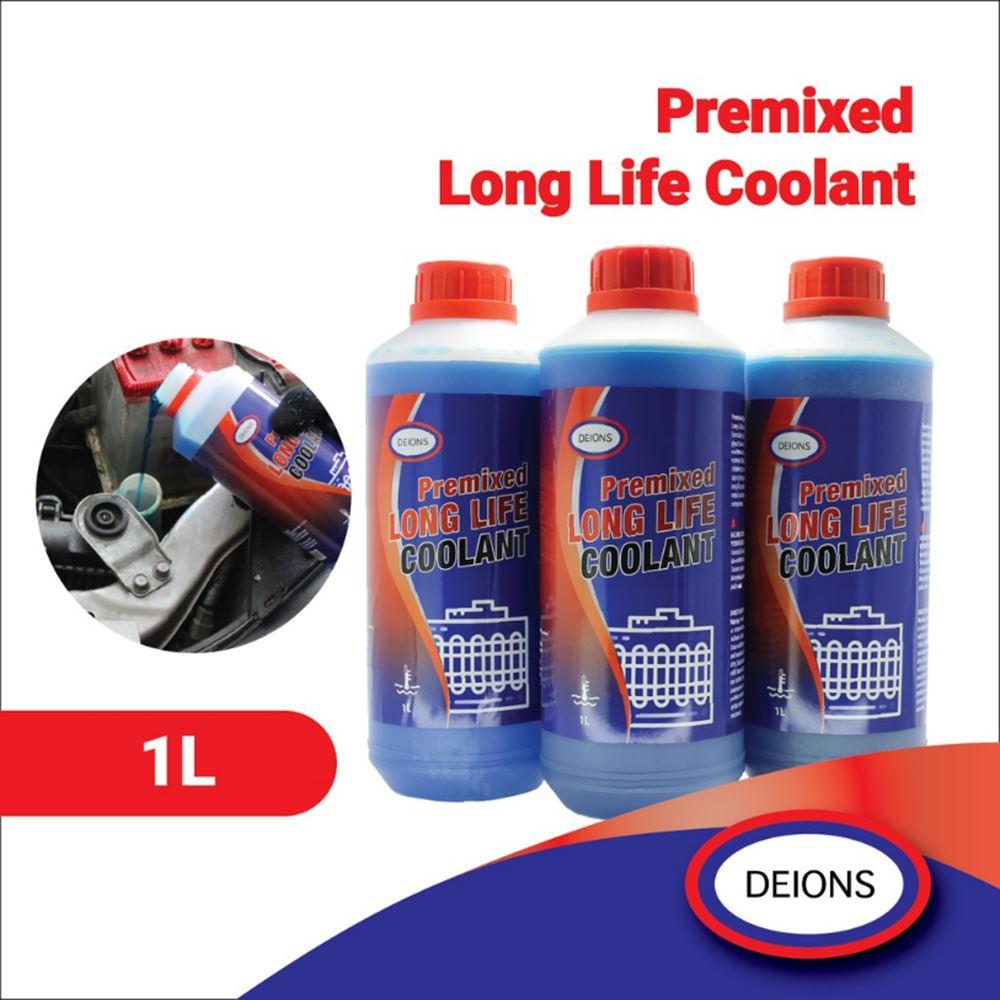 Deions Premixed Long-Life Coolant (1L) 50% Concentration