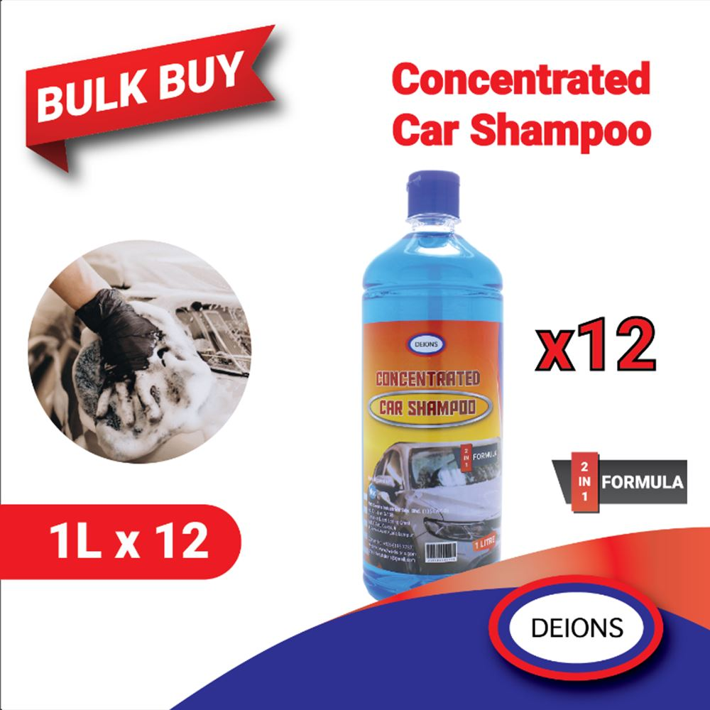 Deions 2in1 Formula Concentrated Car Shampoo (1L)