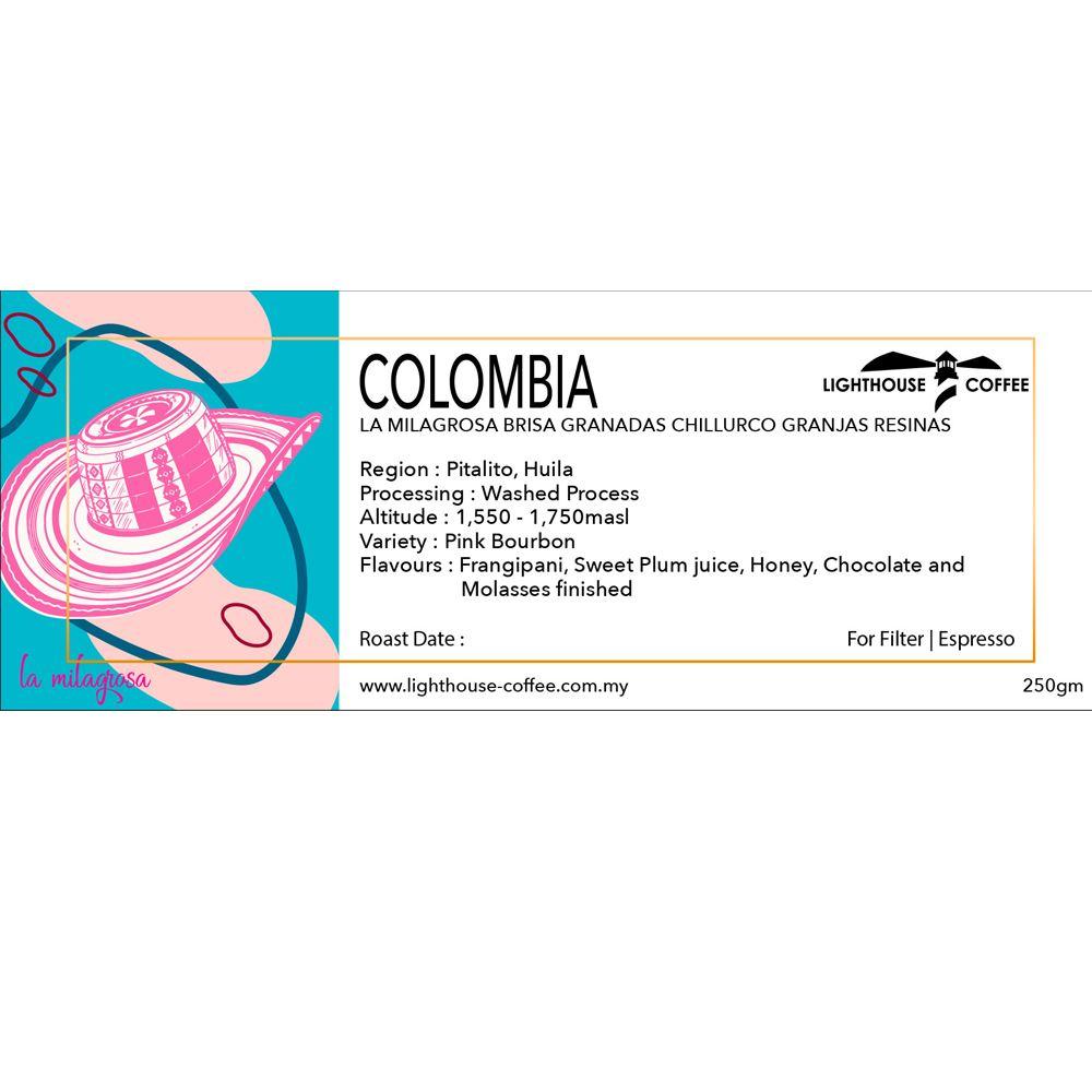 Colombia La Milagrosa Brisa Granadas Chillurco Granjas Resinas Pink Bourbon Washed