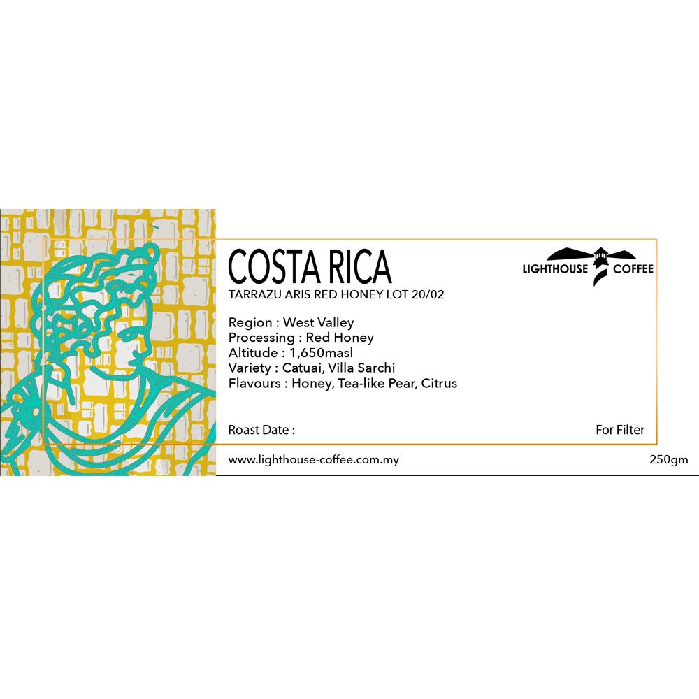 Costa Rica Tarrazu Aris Red Honey Lot 20/02 250g