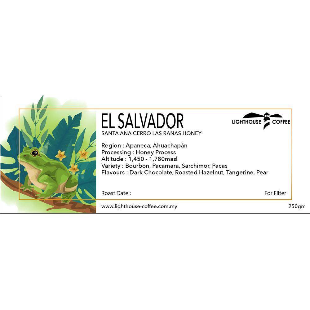 El Salvador Santa Ana Cerro Las Ranas Honey 250g
