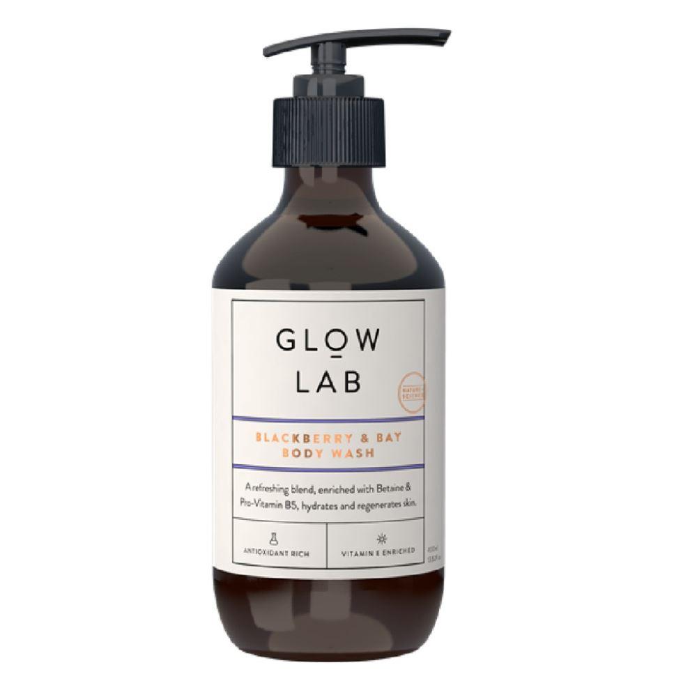 Glow Lab Rhubarb & Rose Body Wash 400ml
