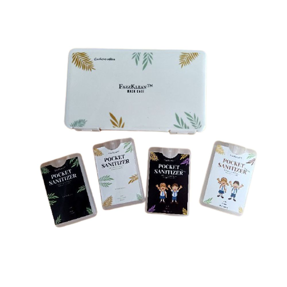 FAZZKLEAN Combo Set A consist of Pocket Hand Sanitizer and Exclusive Elegant Mask Case Storage
