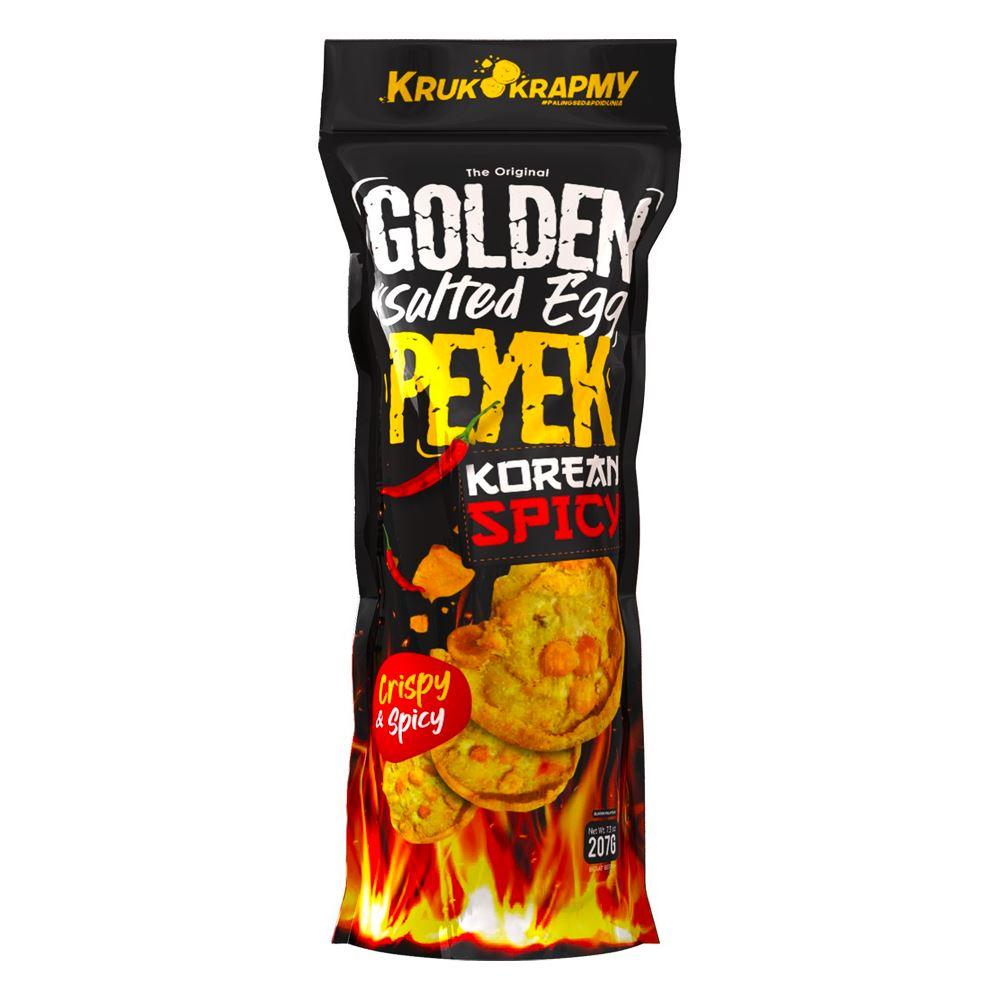 Golden Salted Egg Peyek Korean Spicy | Peyek Distributor Malaysia