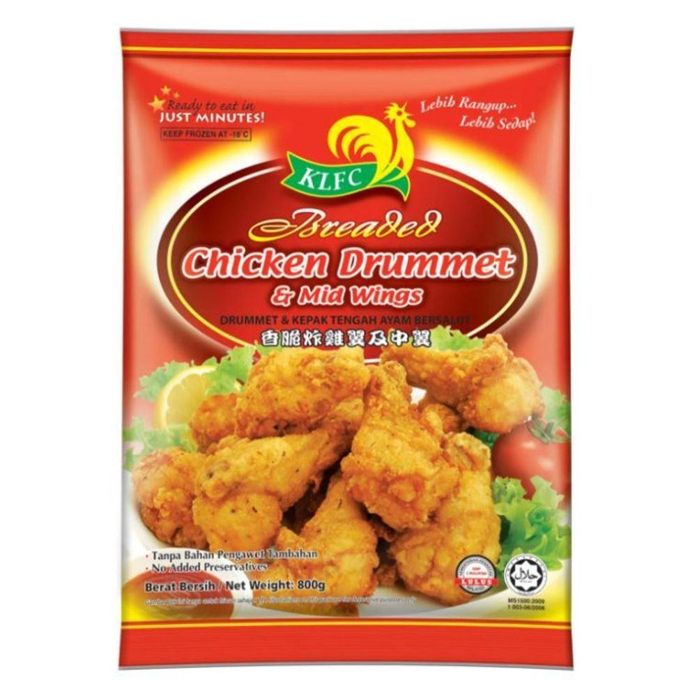 Breaded Chicken Drummet & Mid Wings