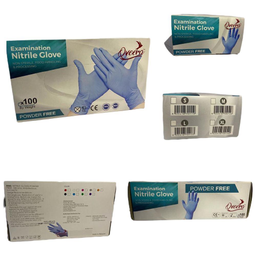 Qveera Glove, Powder-Free, Blue Colour