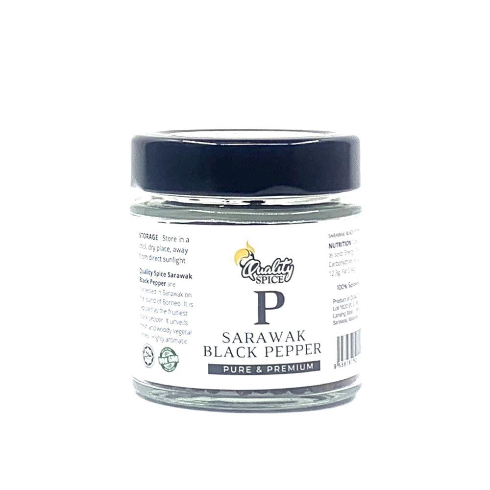 Sarawak Black Pepper Berries 50G Bottle Premium | Halal Black Pepper Supplier