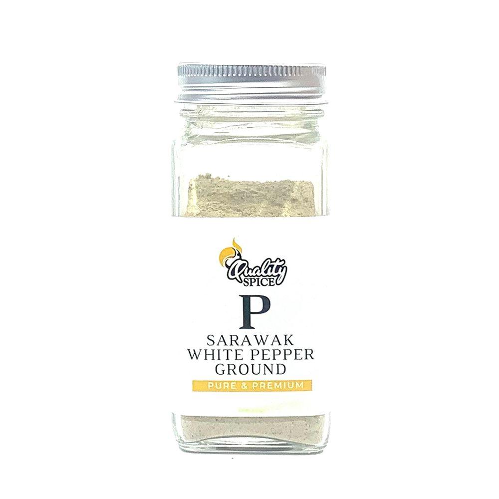 Sarawak White Pepper Ground 50G Shacker Premium | Halal White Pepper Supplier