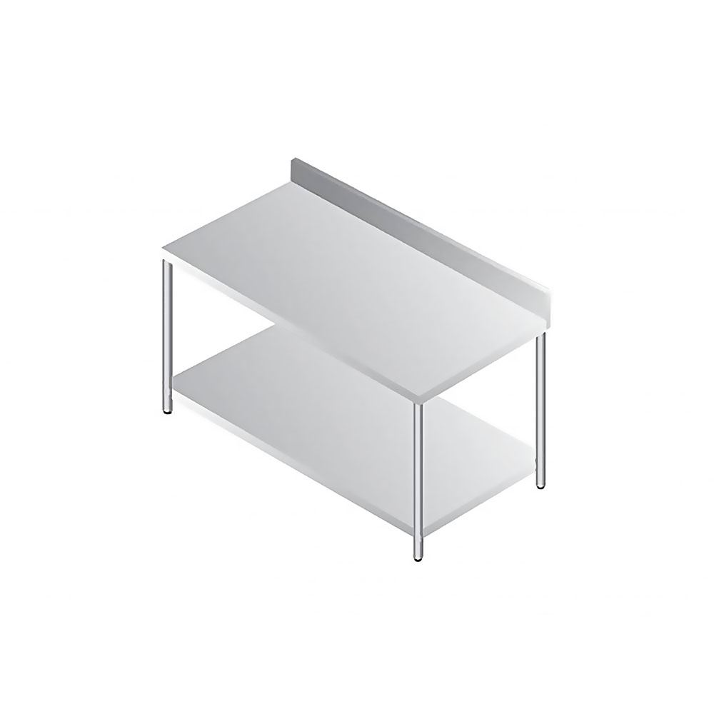 CNOX Two Tier Working Table with Backsplash 600 Series