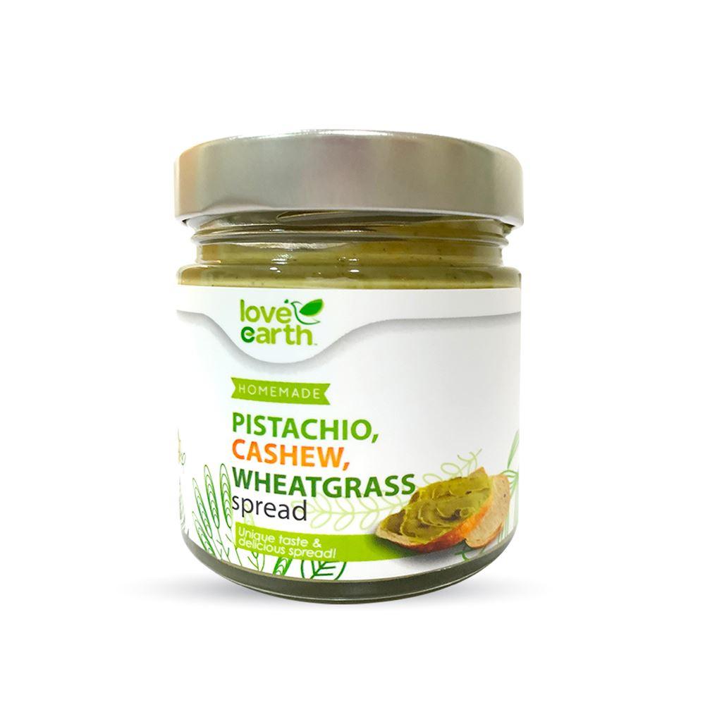 Love Earth Pistachio, Cashew, Wheatgrass Spread 175g