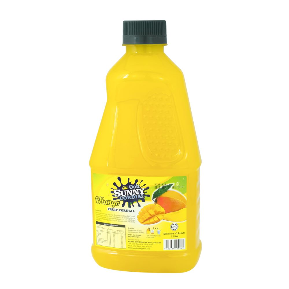 Ooh Sunny Cordial Concentrate – Real Mango Fruit Juice
