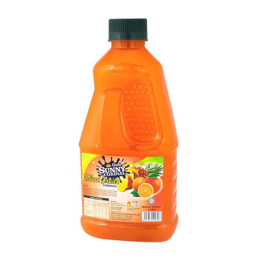 Ooh Sunny Cordial Concentrate – Real Mixed Fruit Juice