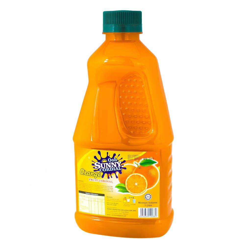 Ooh Sunny Cordial Concentrate – Real Orange Fruit Juice